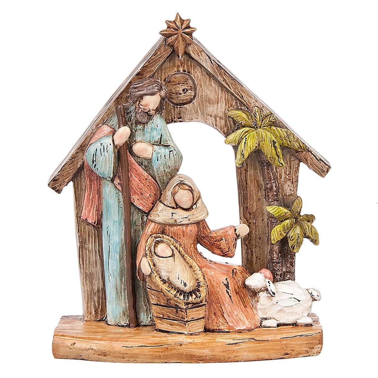 Holy Family Figurine Display