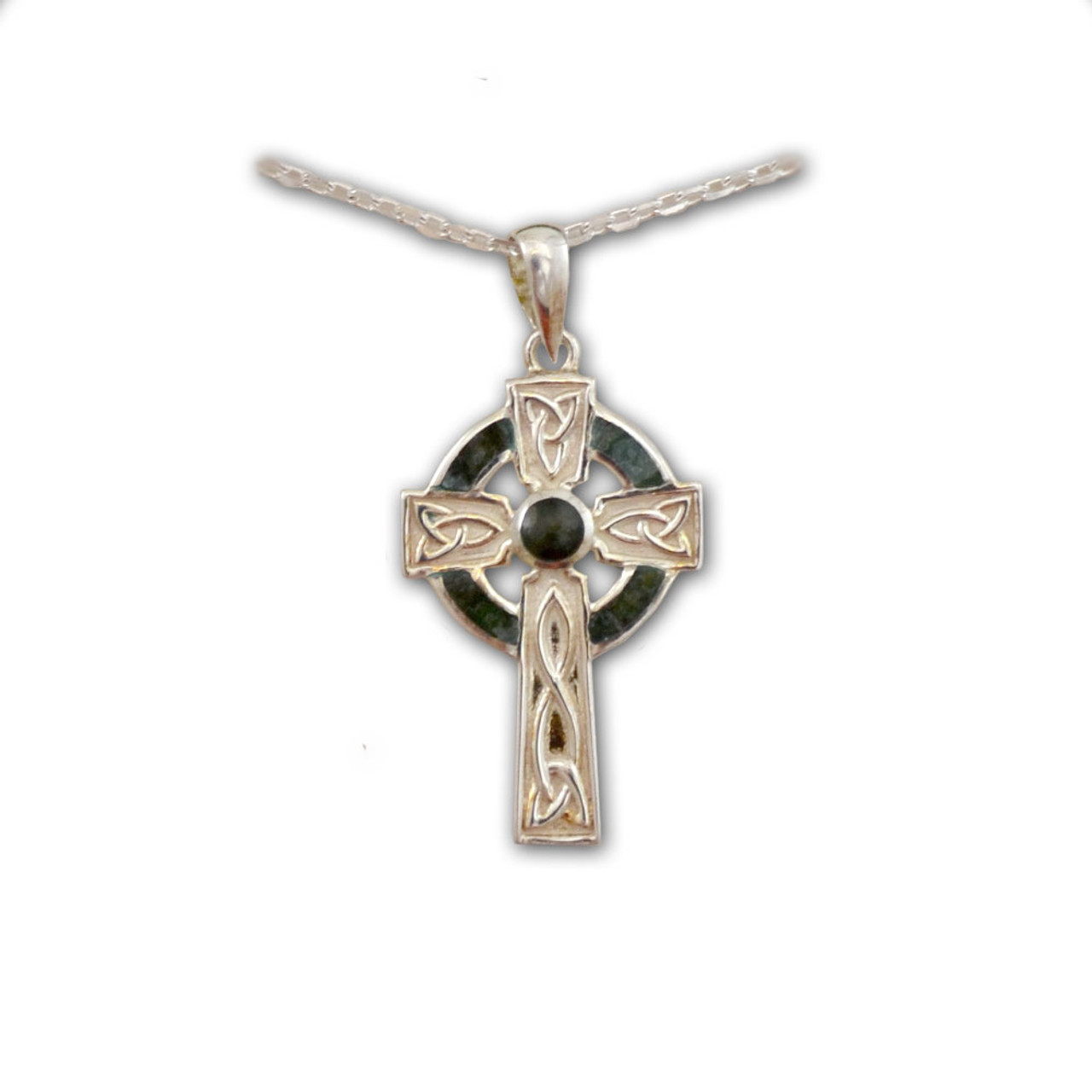 SS Small Marble Cross Pendant
