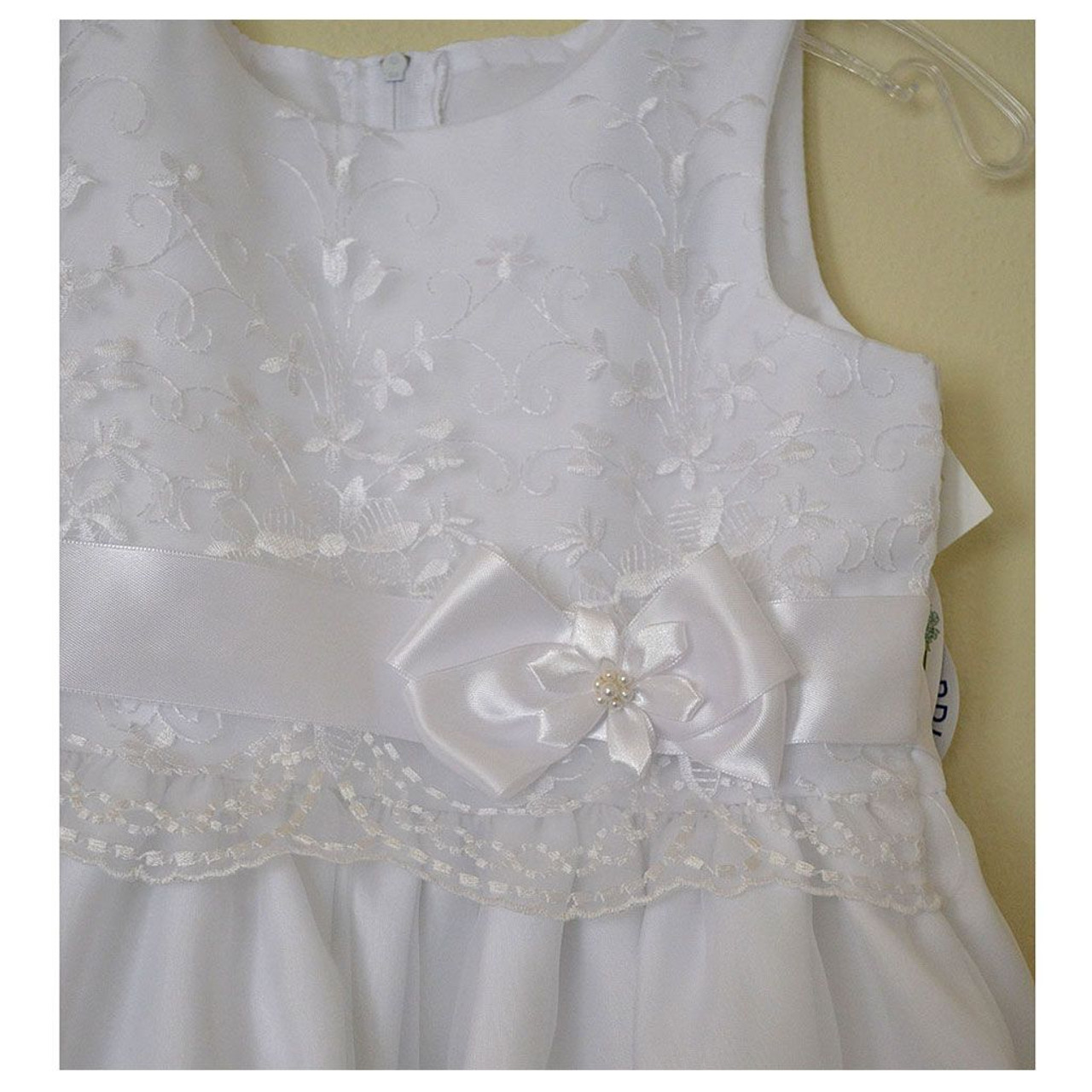 Rosemarie Communion Dress Bodice Detail