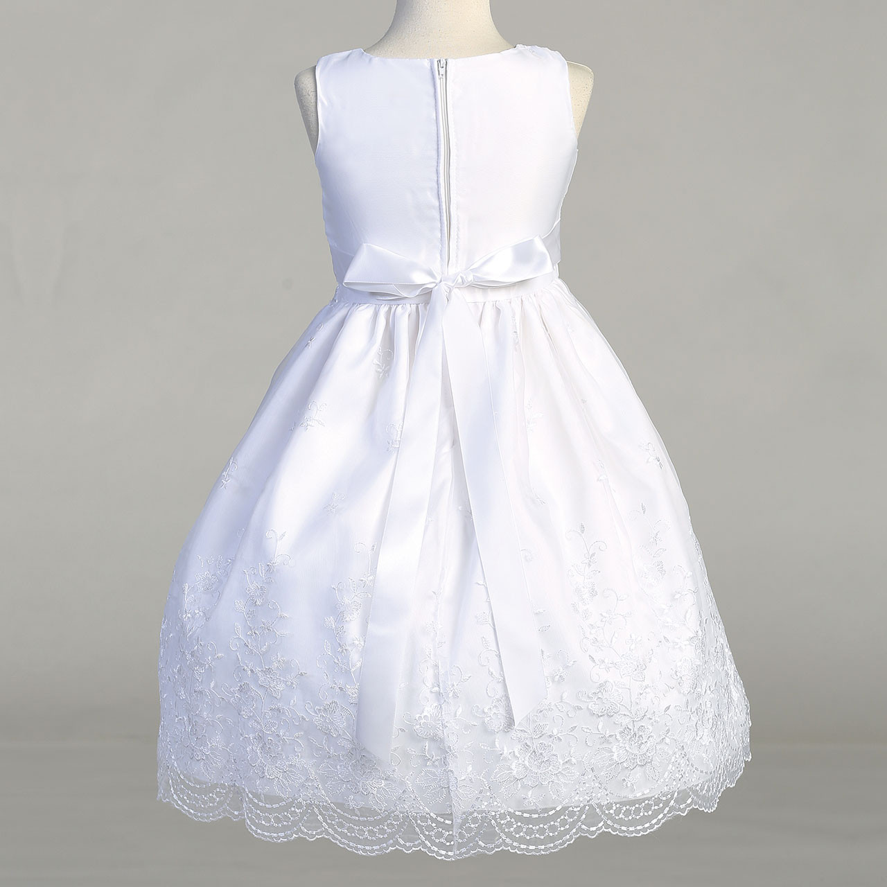 Back of Rosemarie Communion Dress