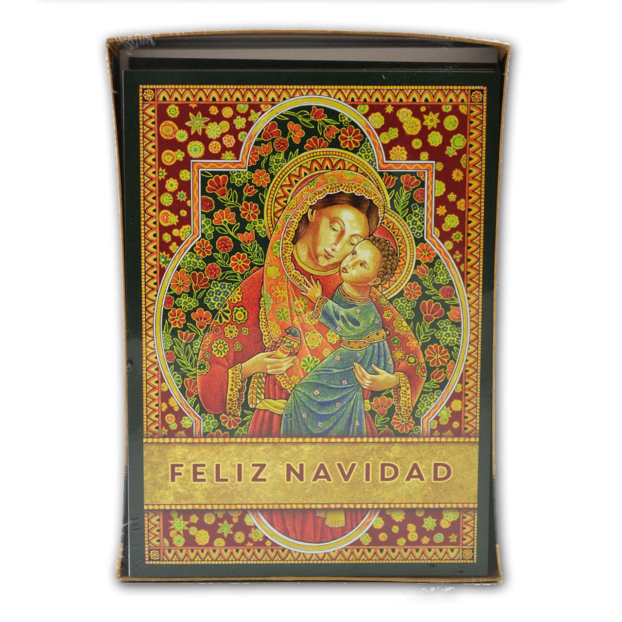 Madonna feliz Navidad Christmas Card Packaged