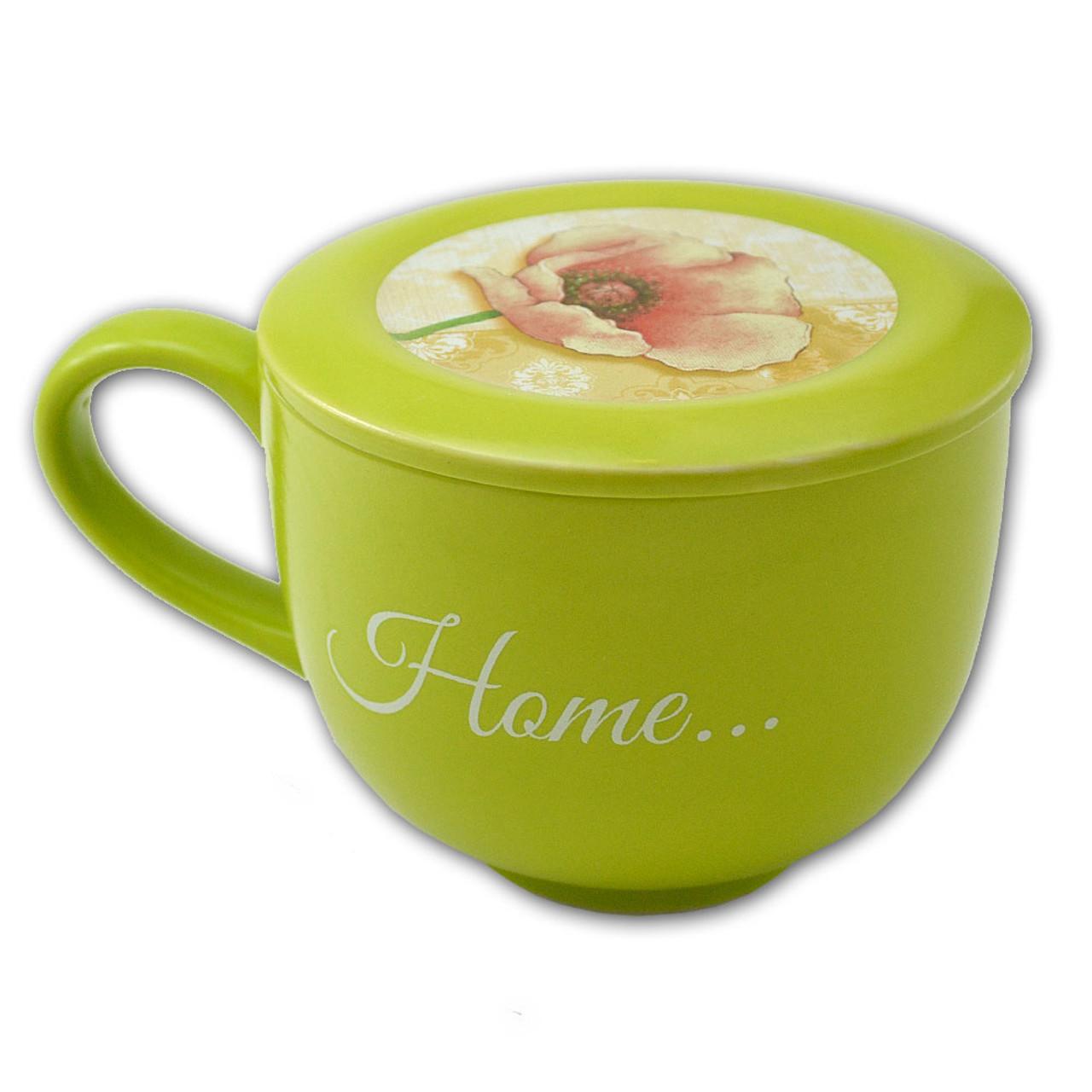 Home Soup Mug with Coaster Lid