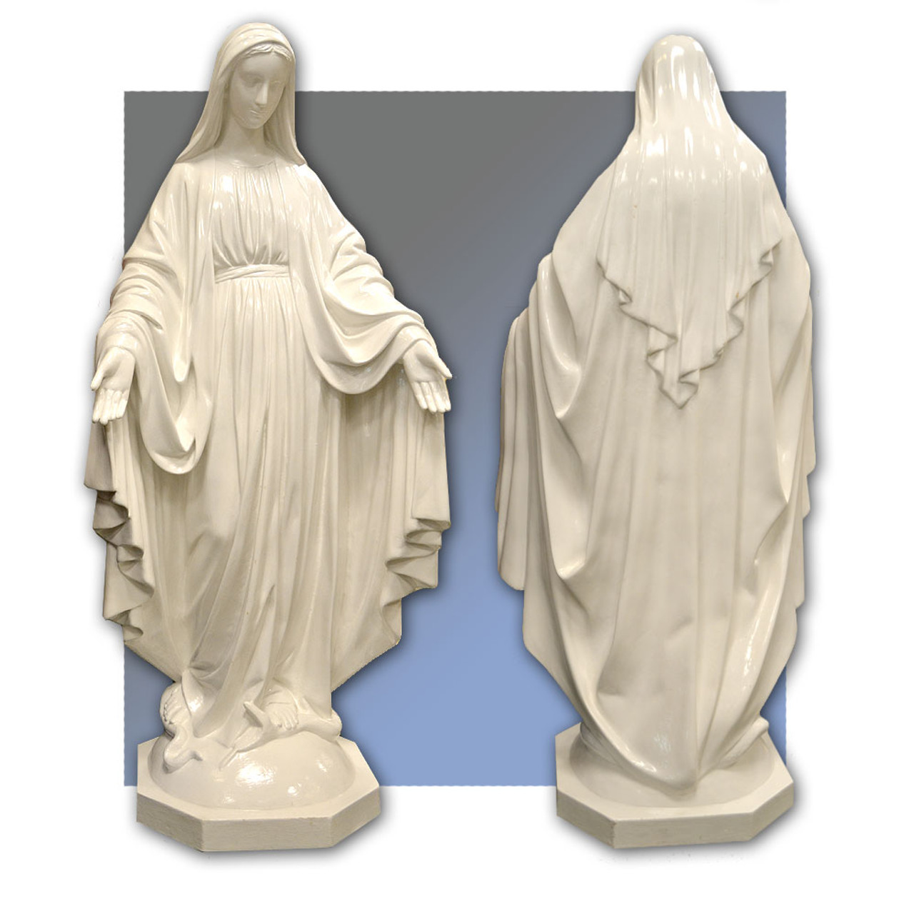 """58"""" Our Lady of Grace in White"""