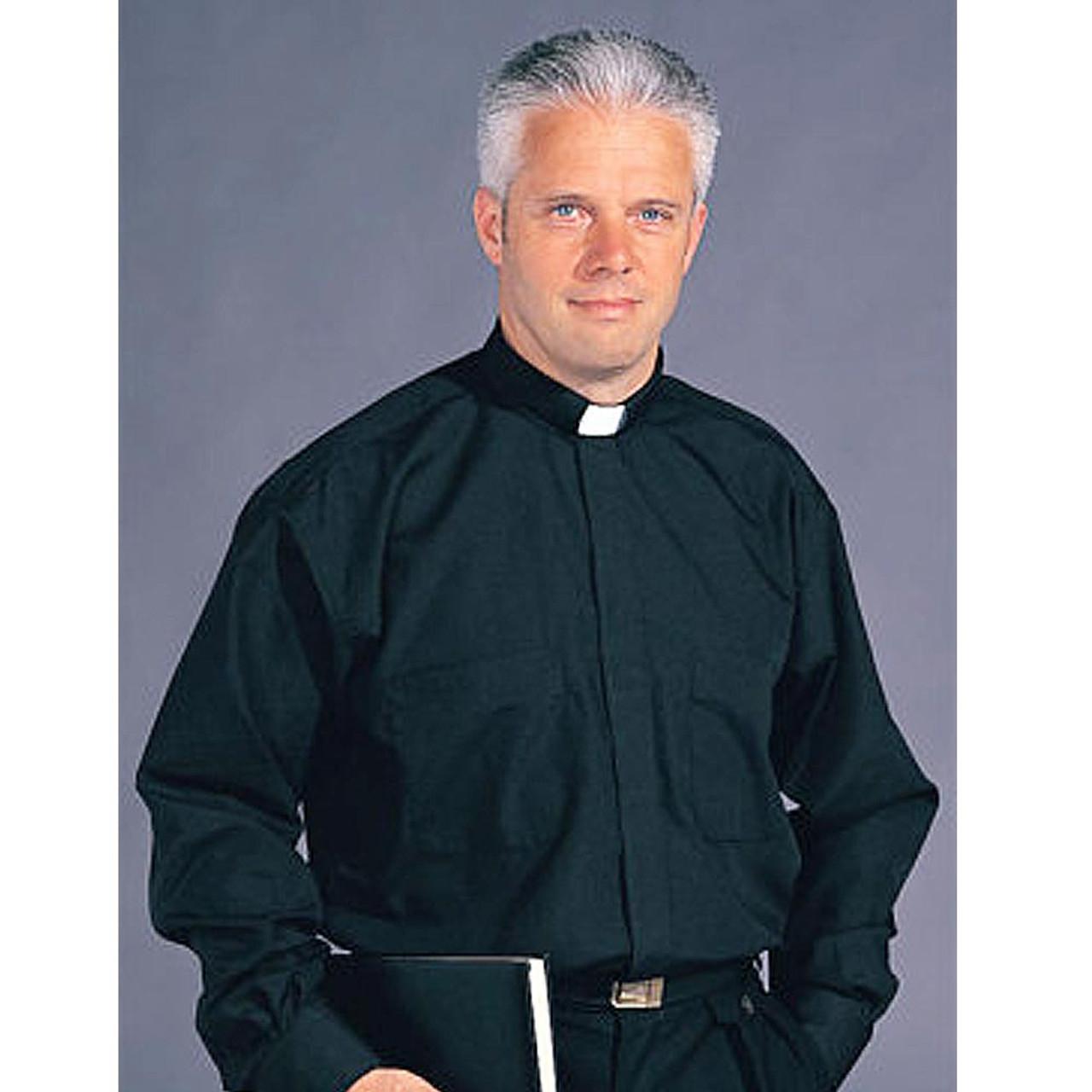 Stadelmaier/Slabbinck Long Sleeve Black Tab Collar Clergy Shirt