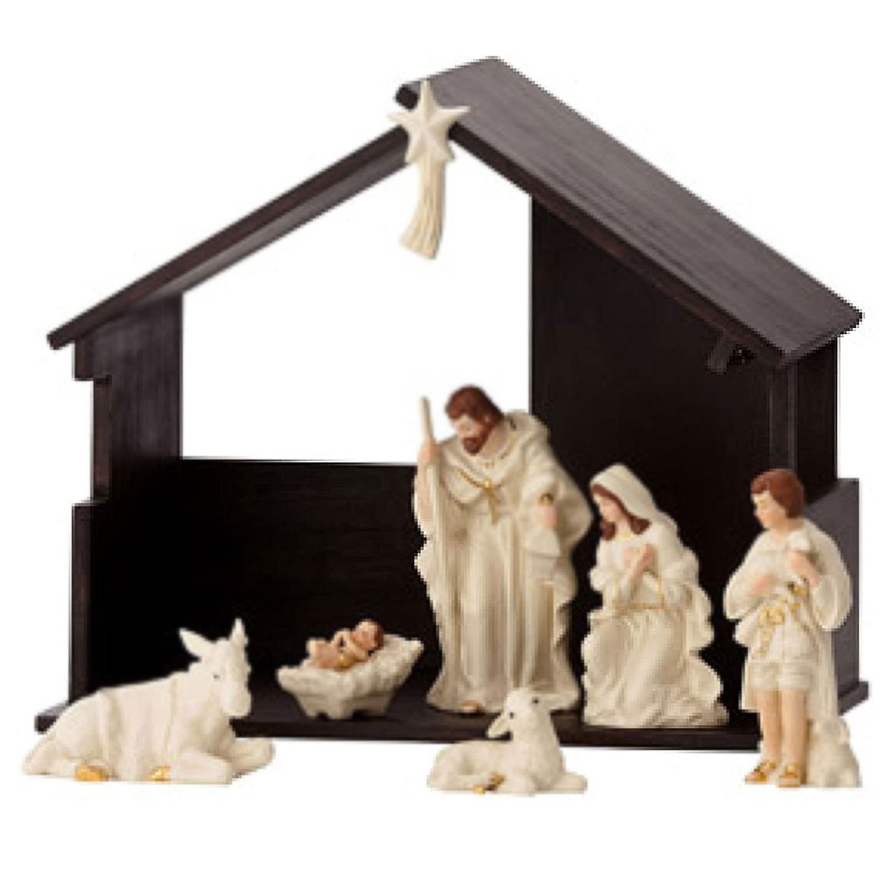 Belleek Starter Nativity Set with Stable