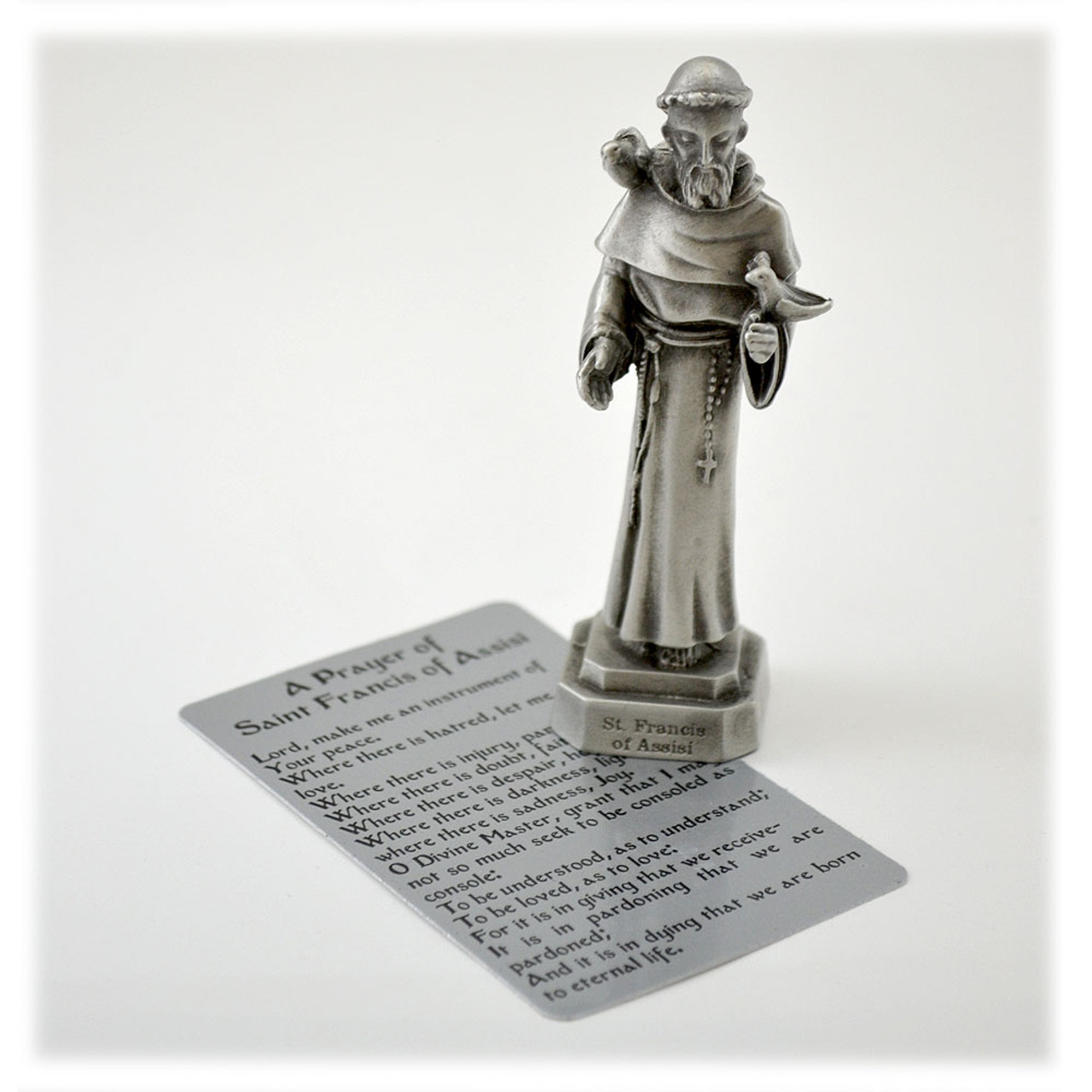 """3-1/2"""" Saint Francis of Assisi Statue"""