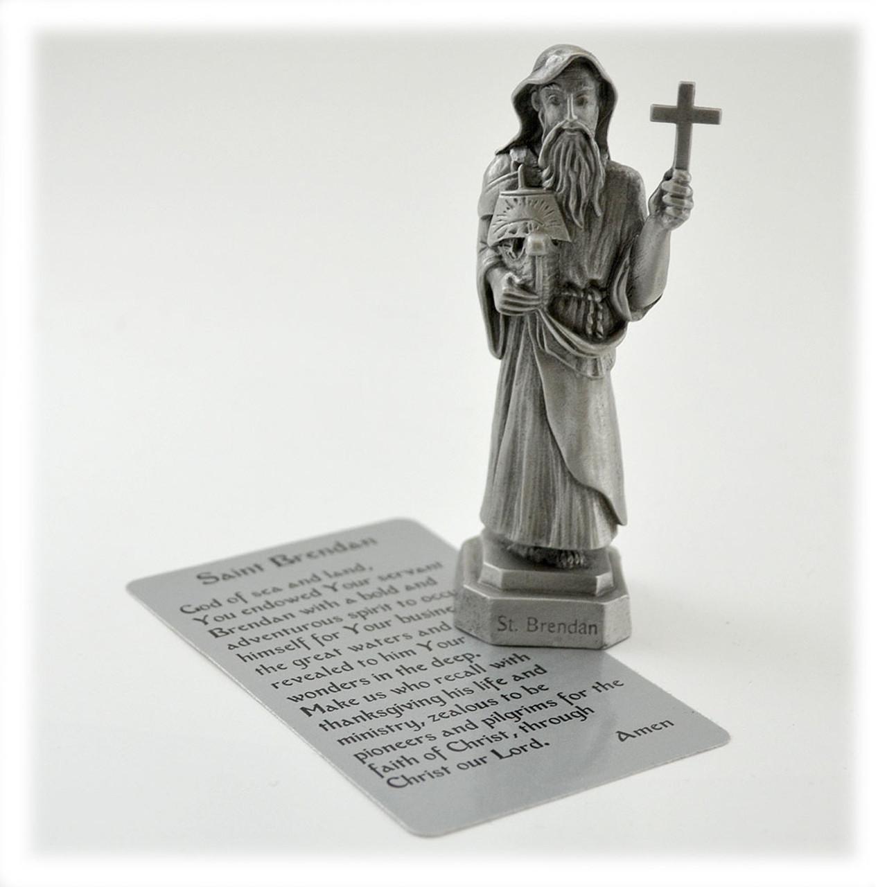St. Brendan Pewter Statue 3.5IN