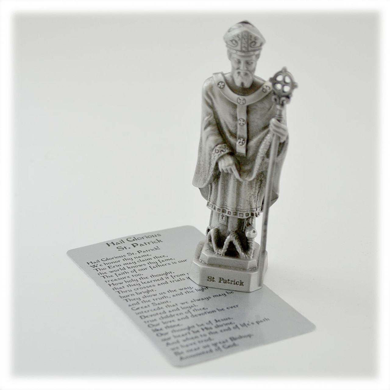 St. Patrick 3.5IN Pewter Statue