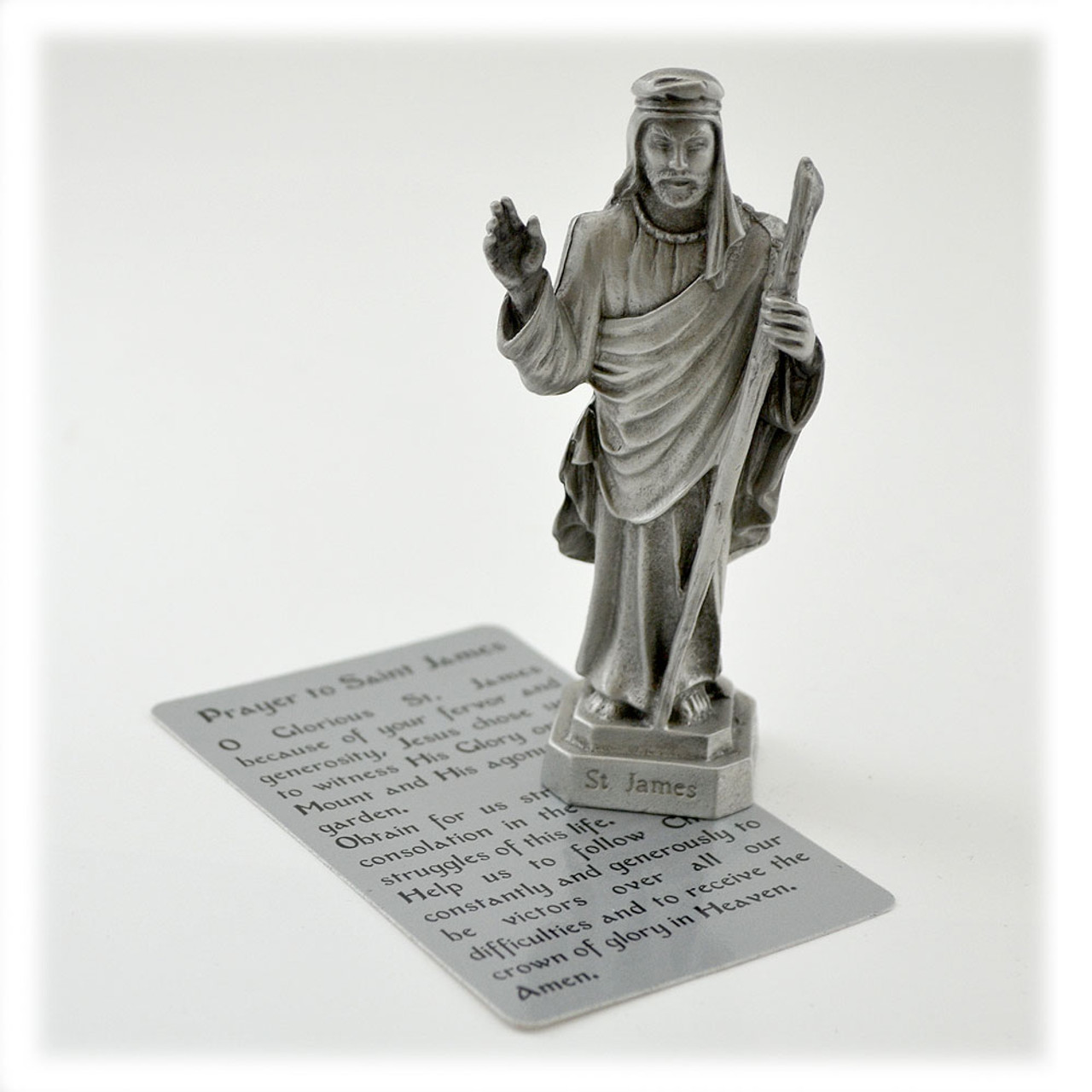St. James 3.5IN Pewter Statue