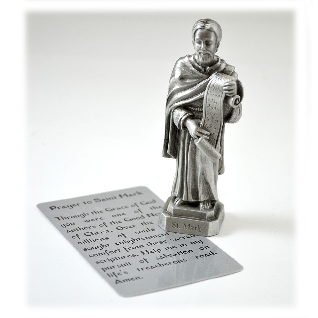 St. Mark Pewter 3.5IN Statue