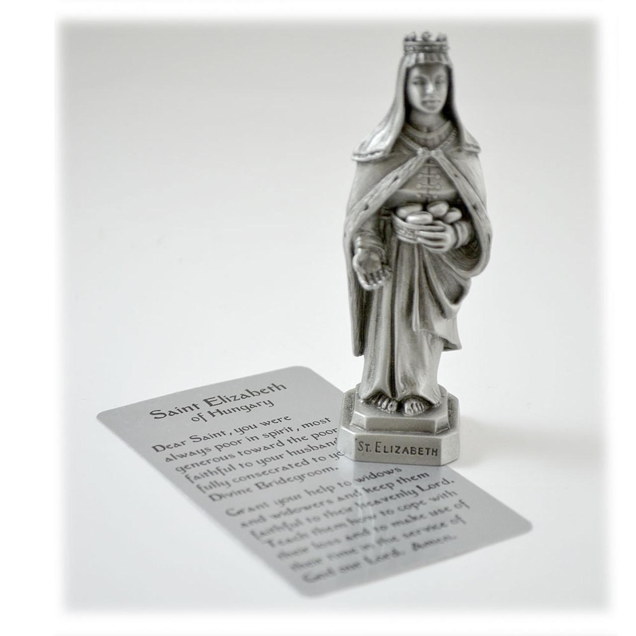 St. Elizabeth Pewter 3.5IN Statue