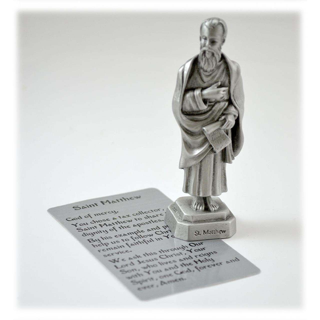 St. Matthew Pewter 3.5IN Statue