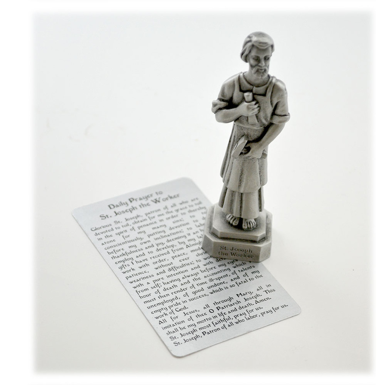 St. Joseph the Worker Pewter 3.5IN Statue