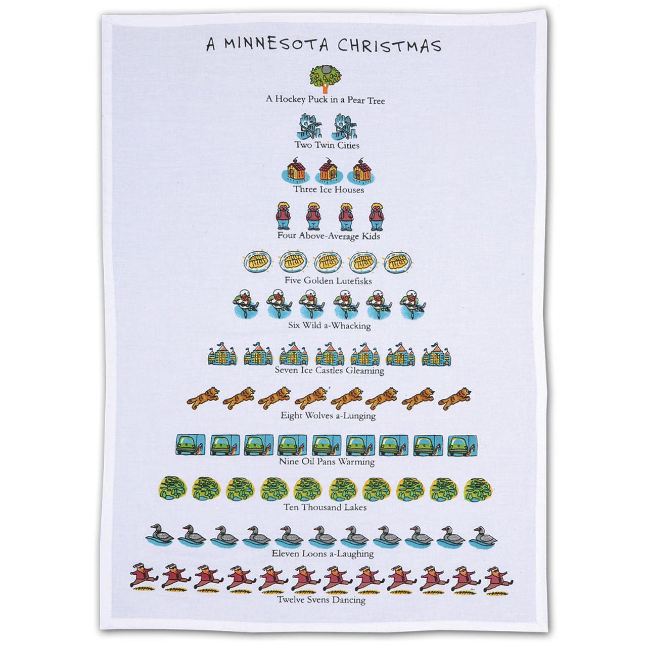 12 Days of Christmas MN Towel