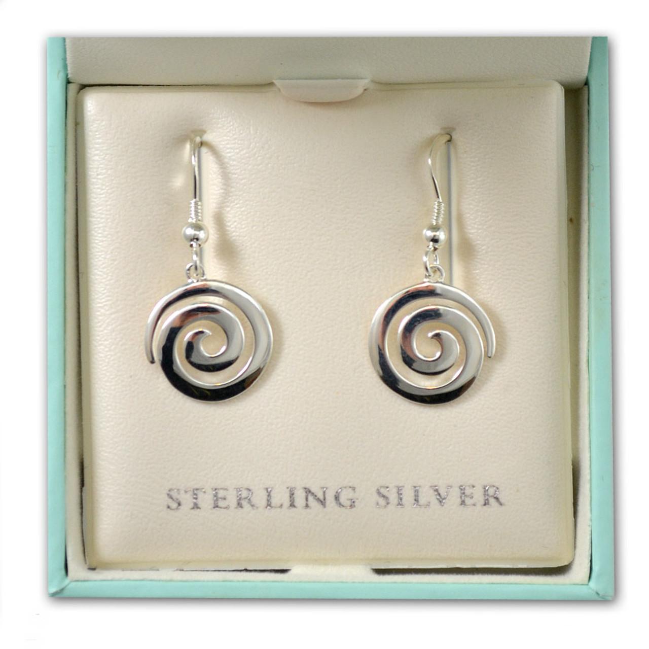 Irish Spiral Earrings in Sterling Silver