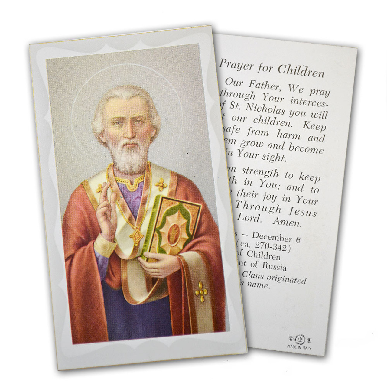 St. Nicholas Paper Holy Card