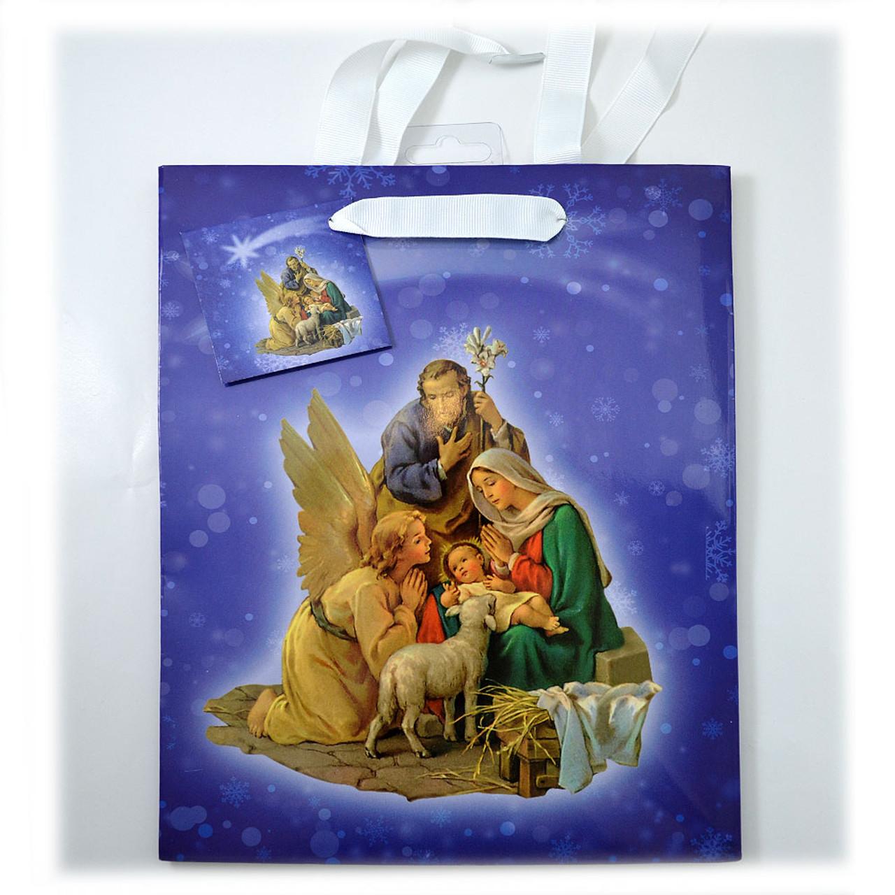 Nativity Scene Gift Bag Medium