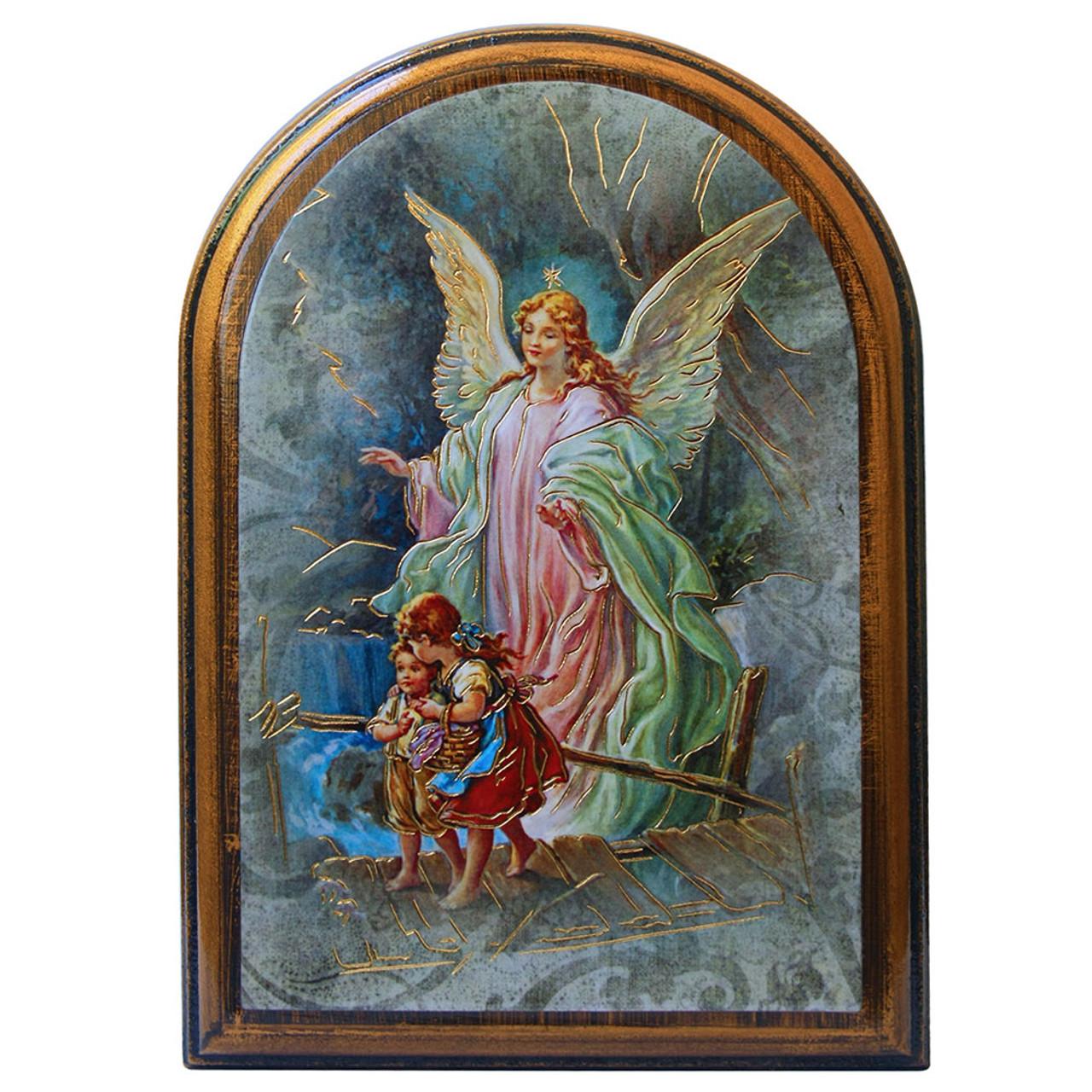 Angel Plaque Antique Gold