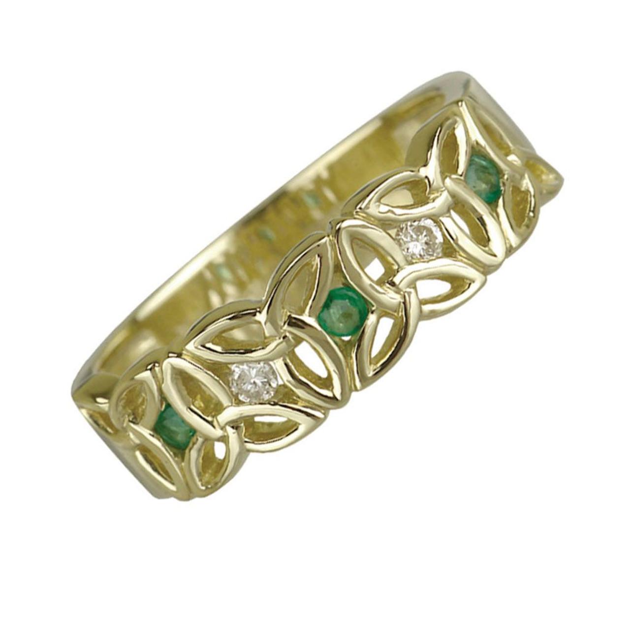 10k Trinity Knot Ring Irish-Made