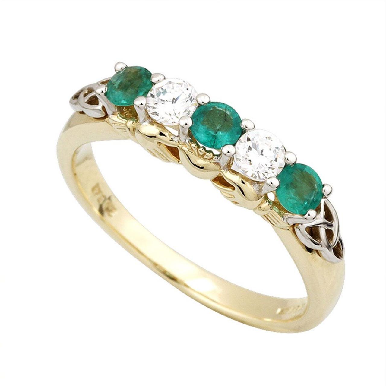 10k Claddagh Eternity Ring Irish-Made