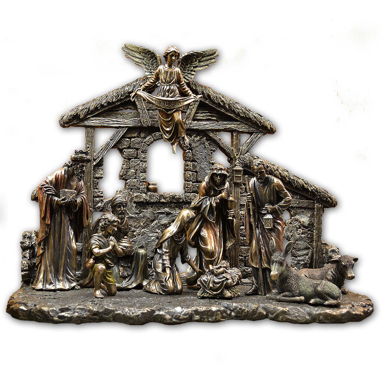 Nativity Set Bronze 10PCS