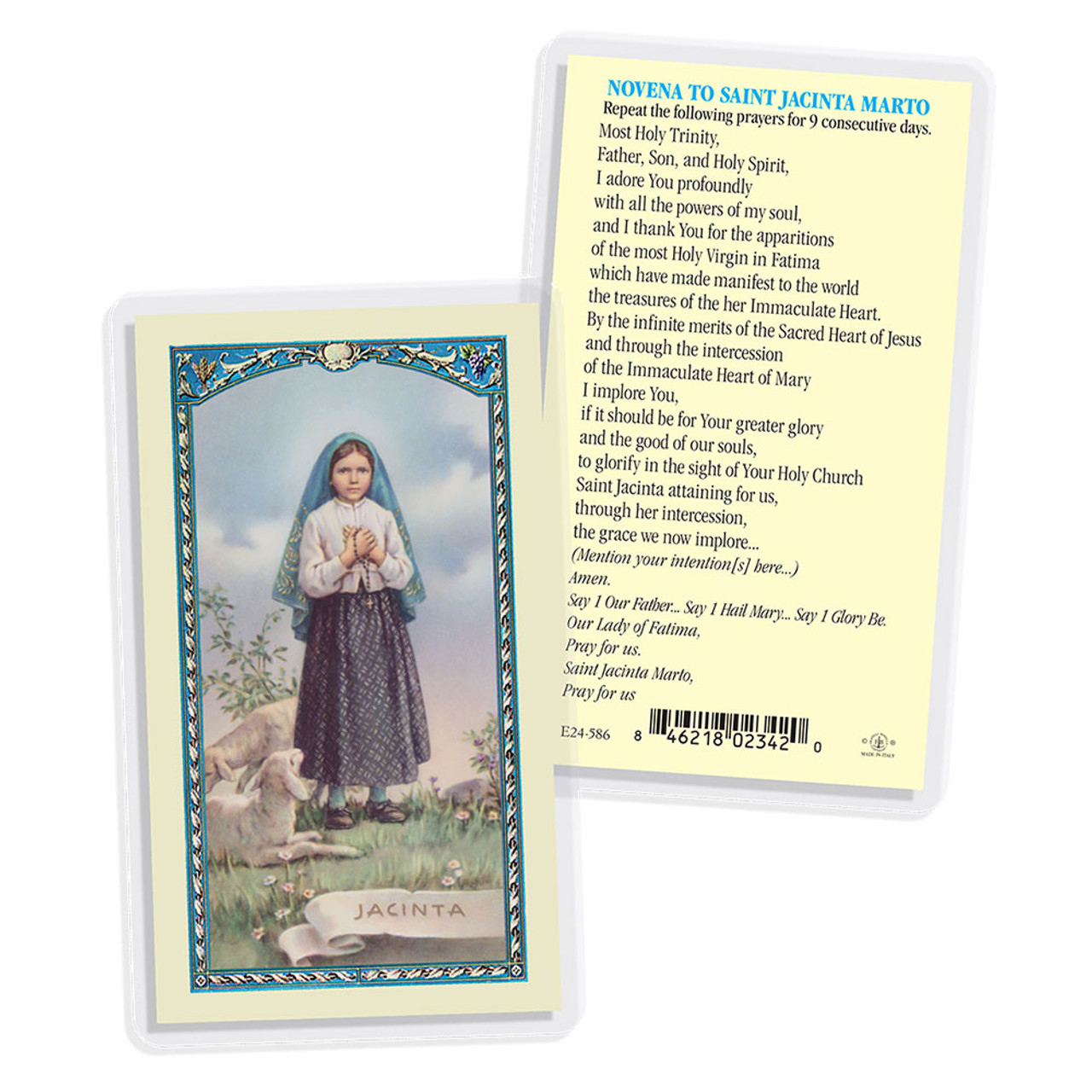Saint Jacinto Marto Holy Card