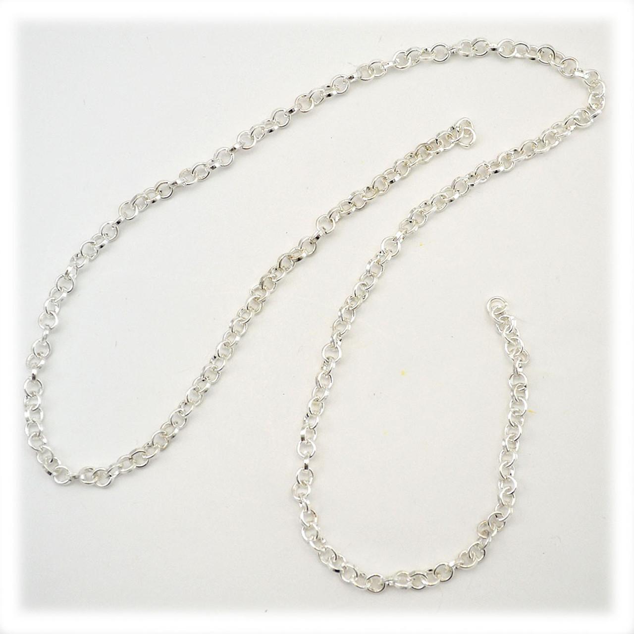 Silver Alternating Chain 18IN
