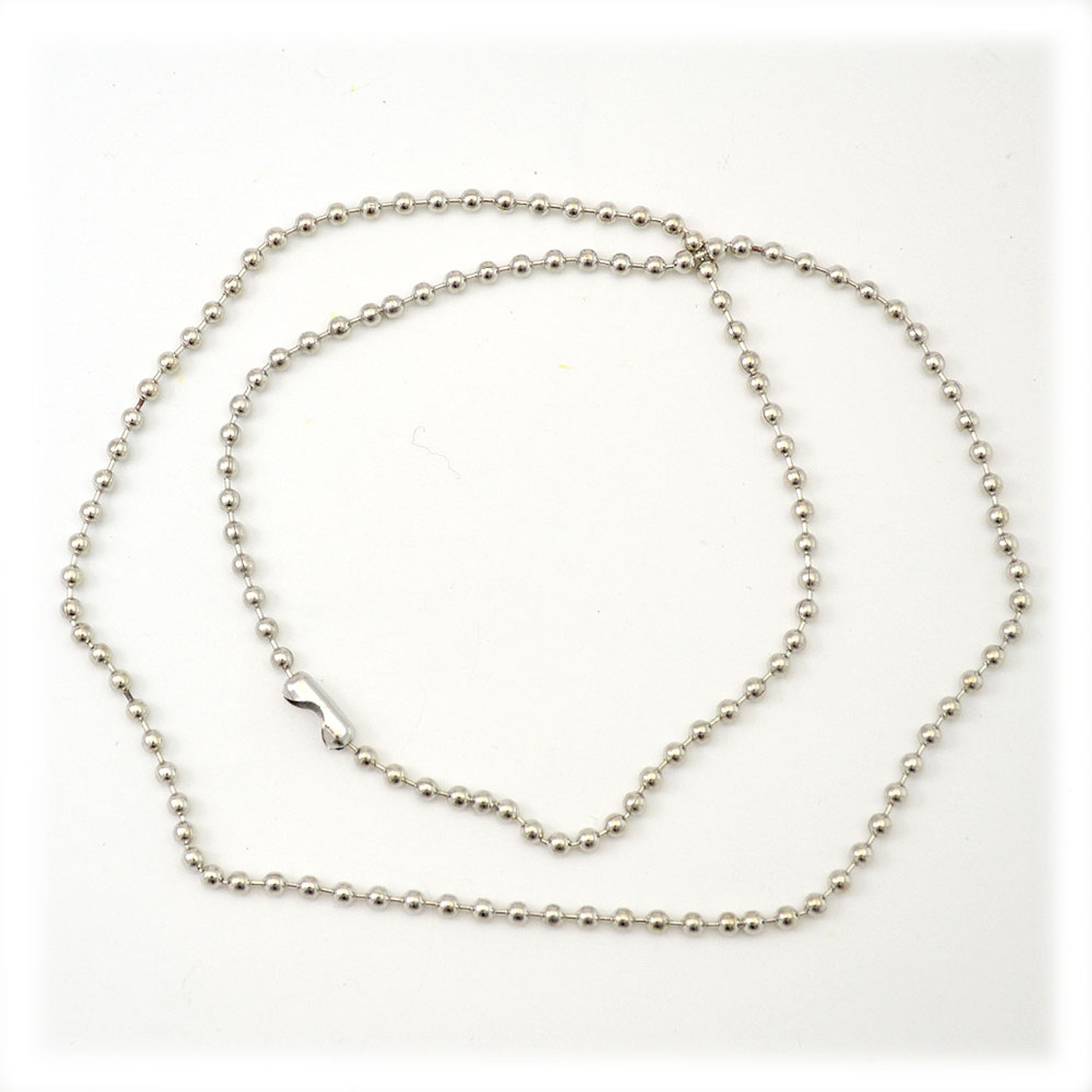 Ball Link Silver Metal Chain 18IN