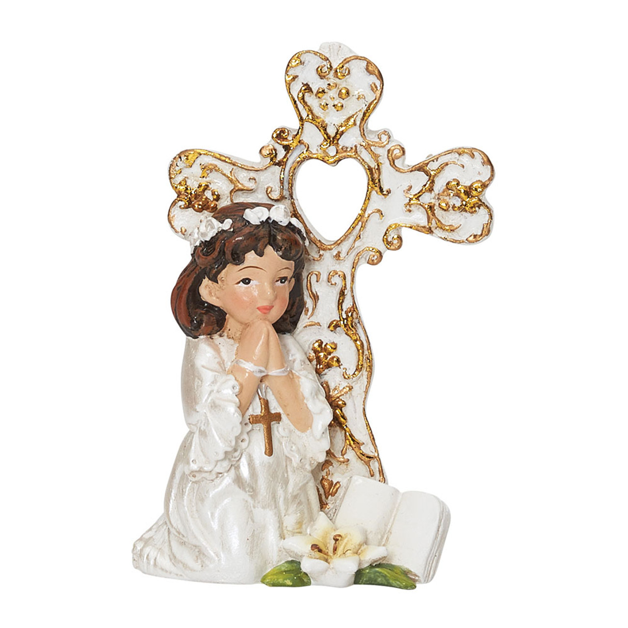 Girl Communion Cake Topper