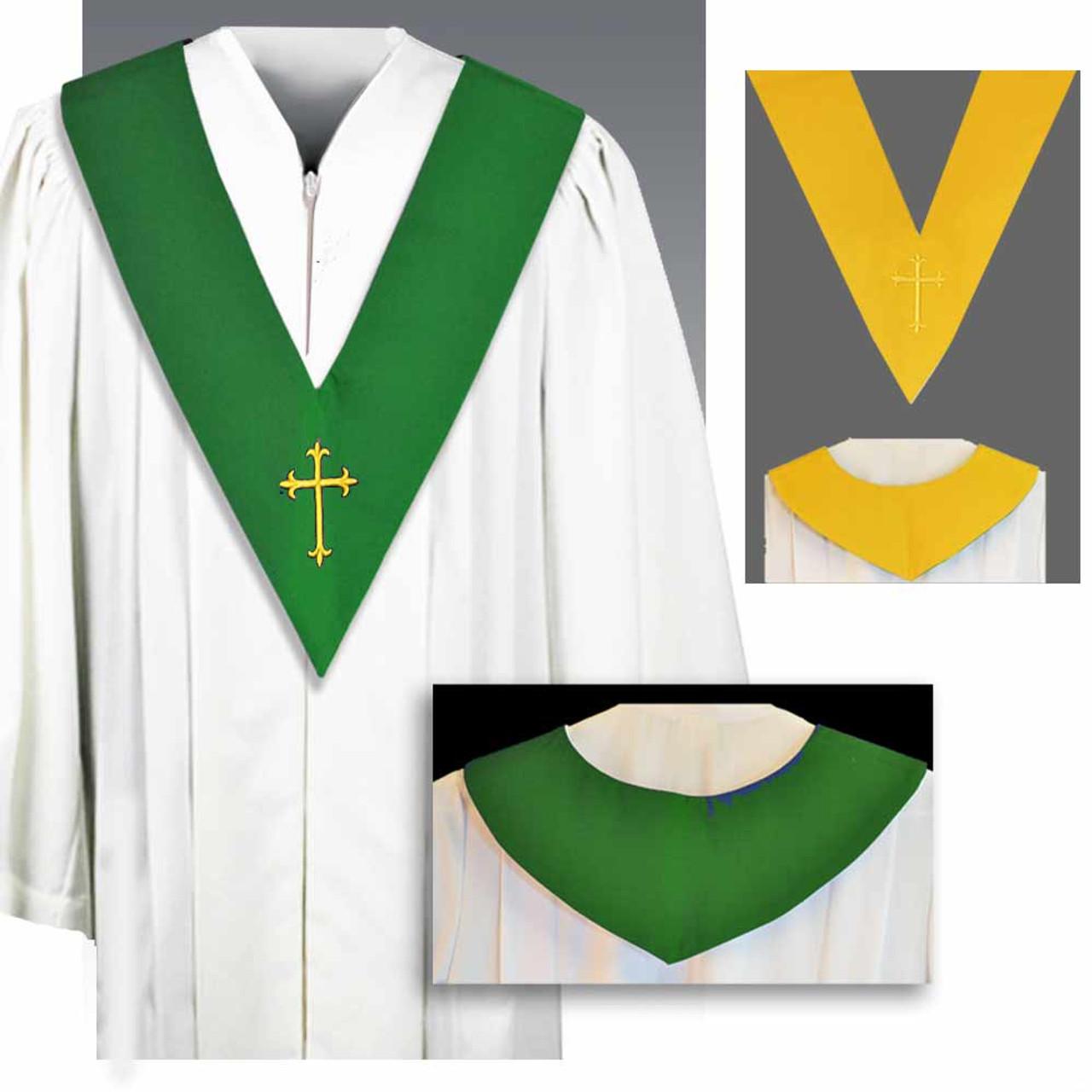 BV Choir Scapular Reversible Green/Gold