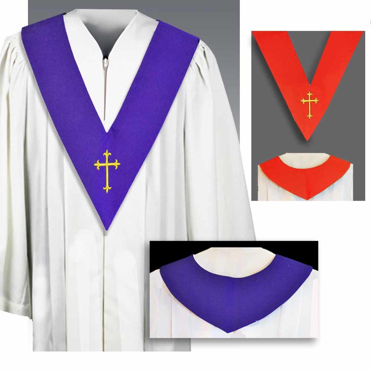 BV Choir Scapular Reversible Red/Purple