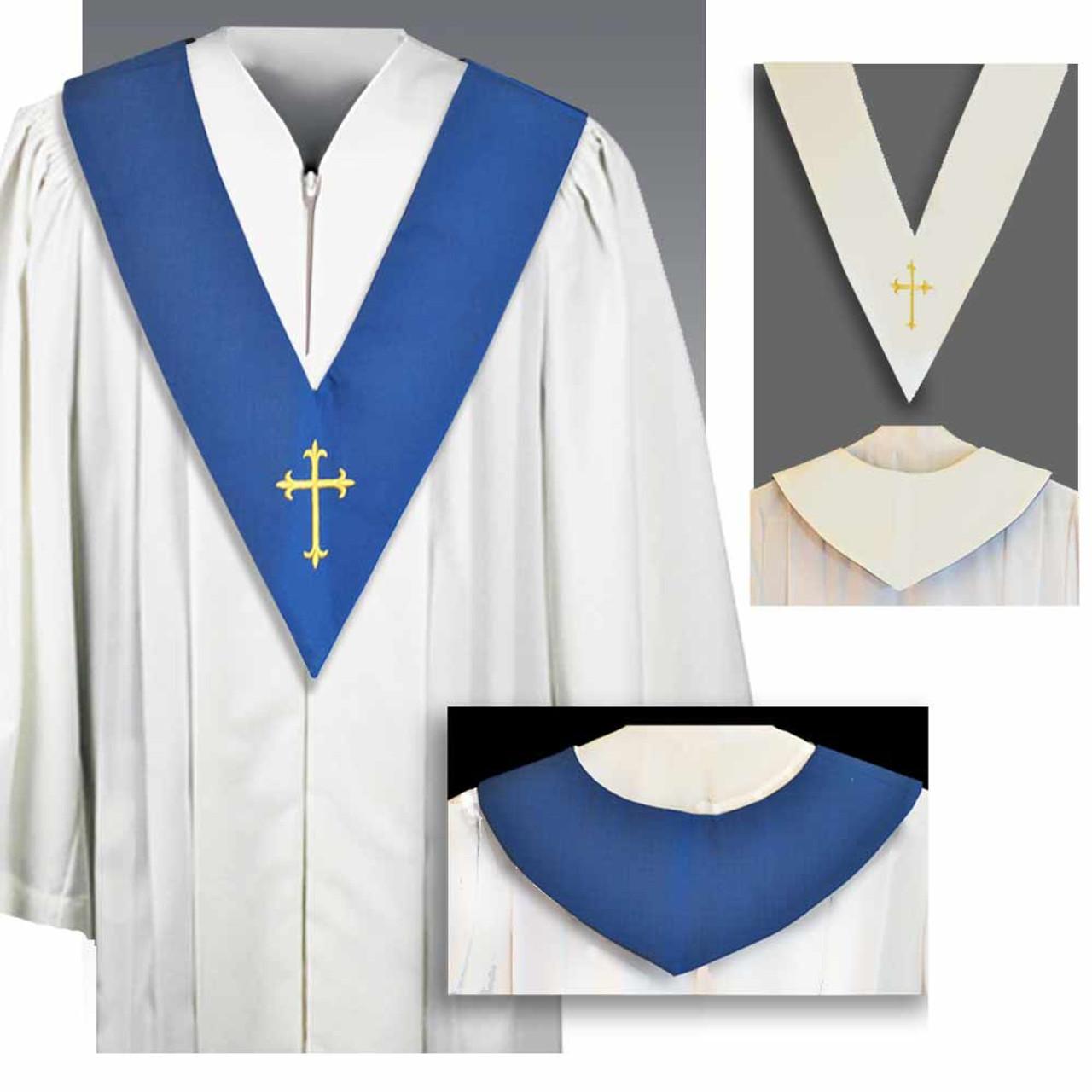 BV Choir Scapular Reversible Blue/White