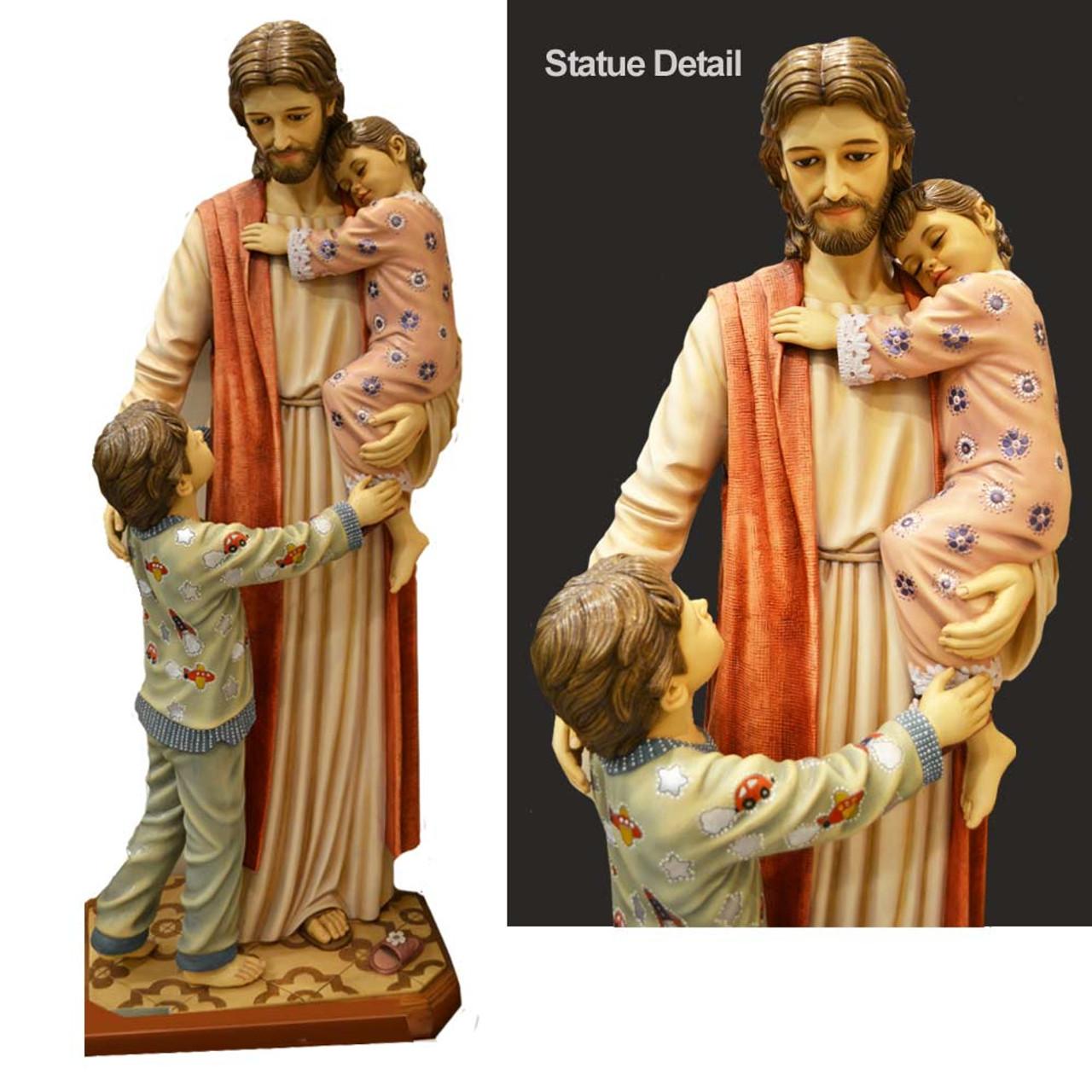 "48"" Jesus with Children Statue /Fiberglass Resin"