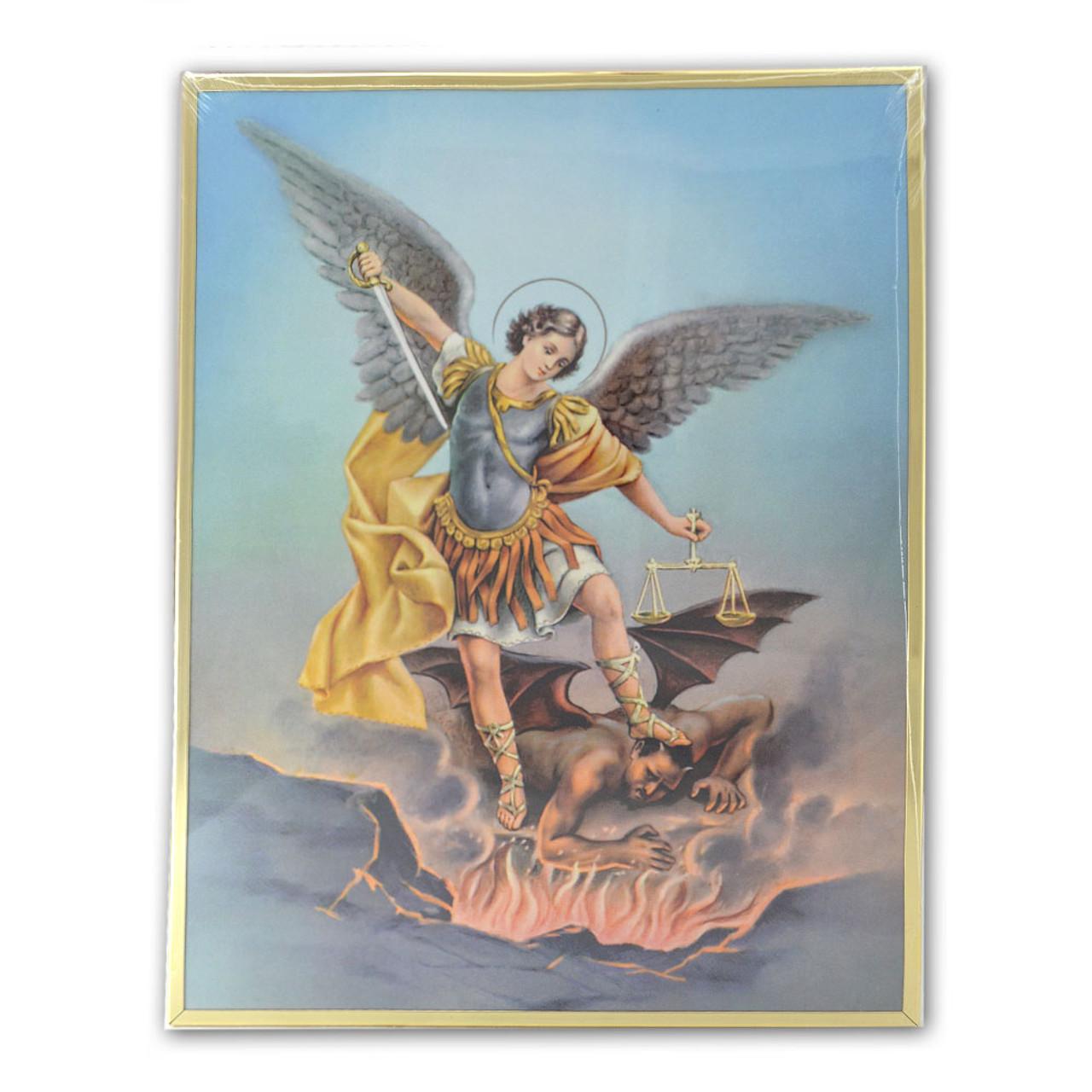 St. Michael Framed Print 11x14
