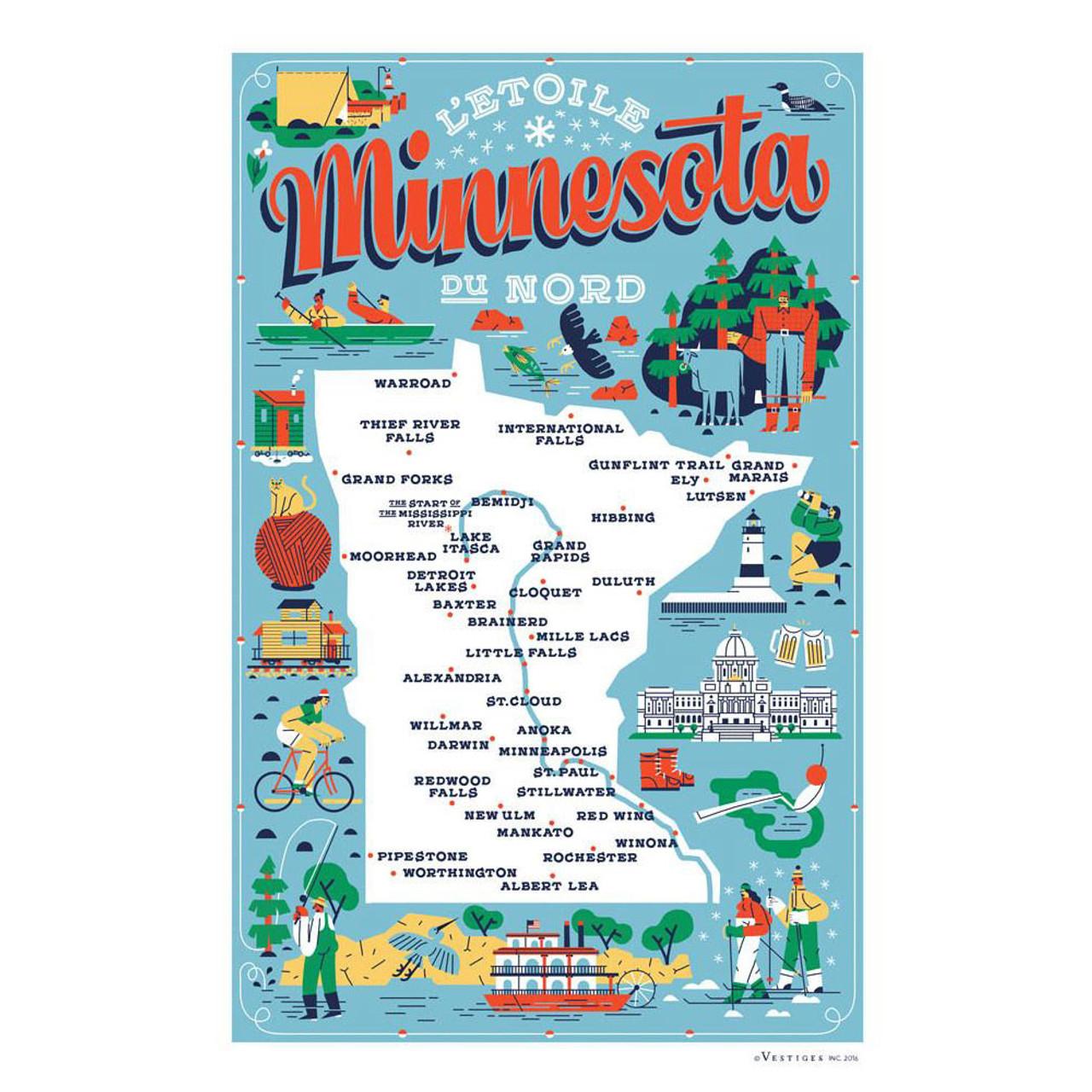 Large Minnesota State Tea Towels Asst.