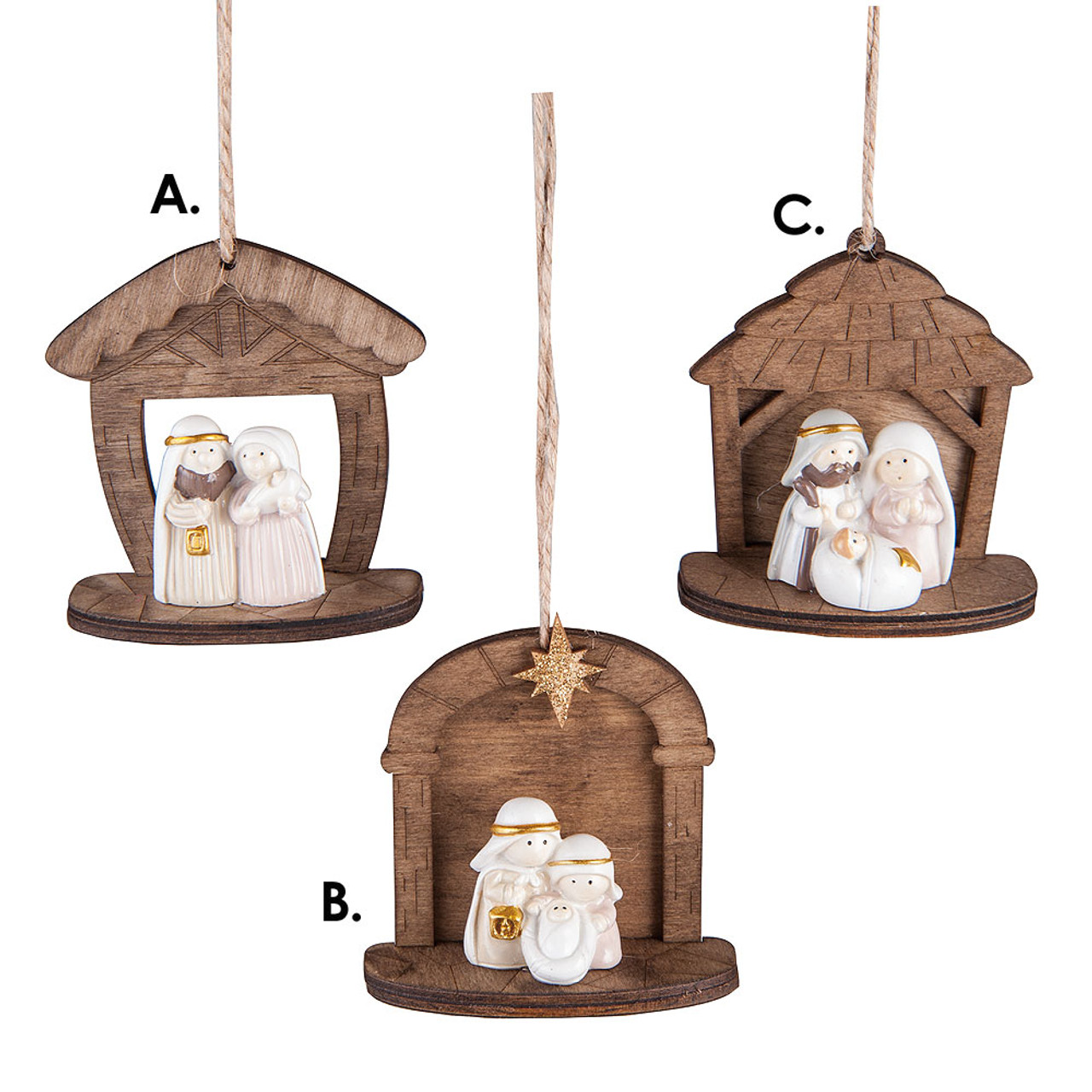 Nativity Mini Ornaments 3Asst