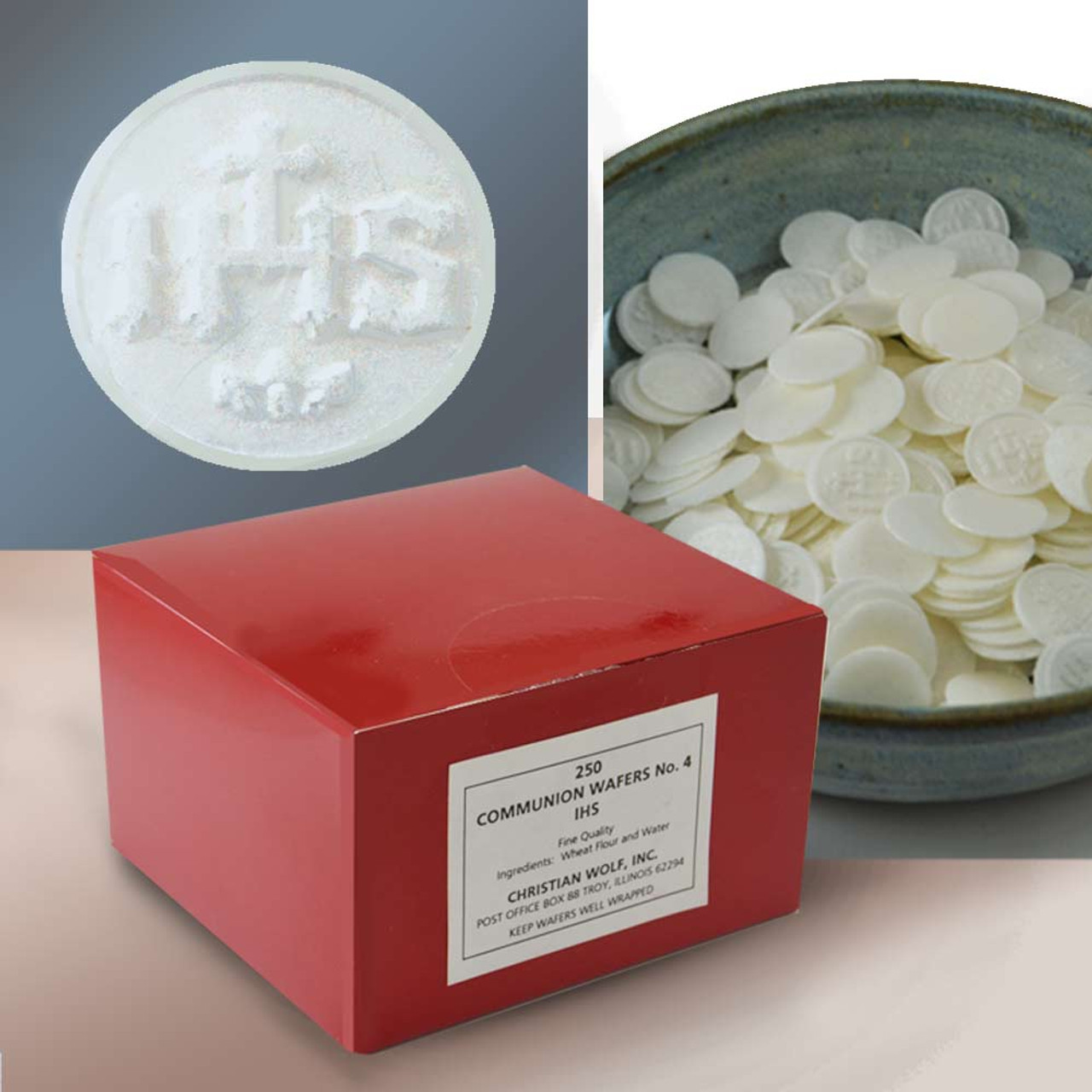 Dime Sized IHS Communion Wafers Pkg/250