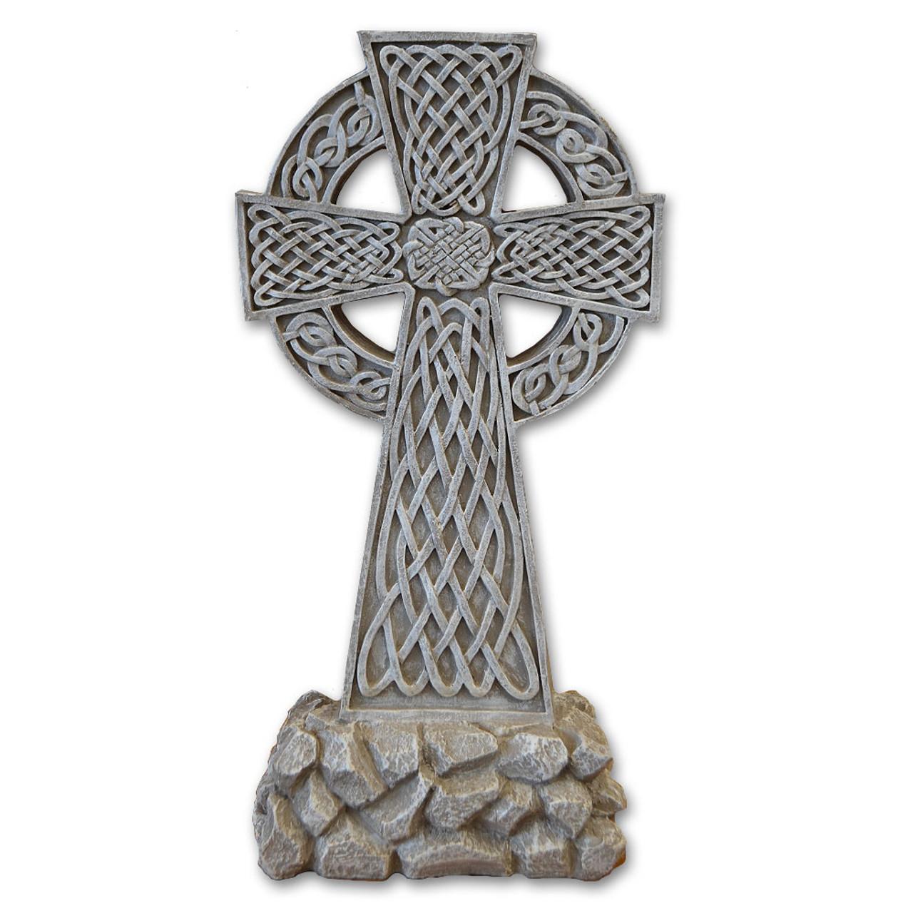 Resin Celtic Garden Cross
