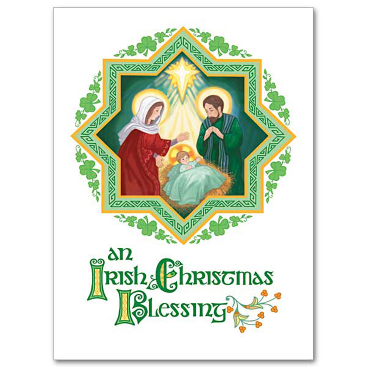 Boxed Irish Holy Family Christmas Cards