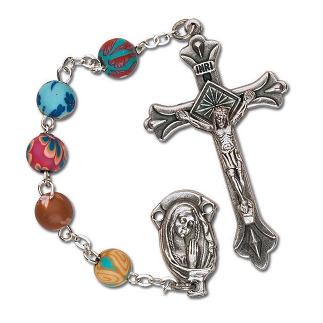 Rosary Round Clay Beads