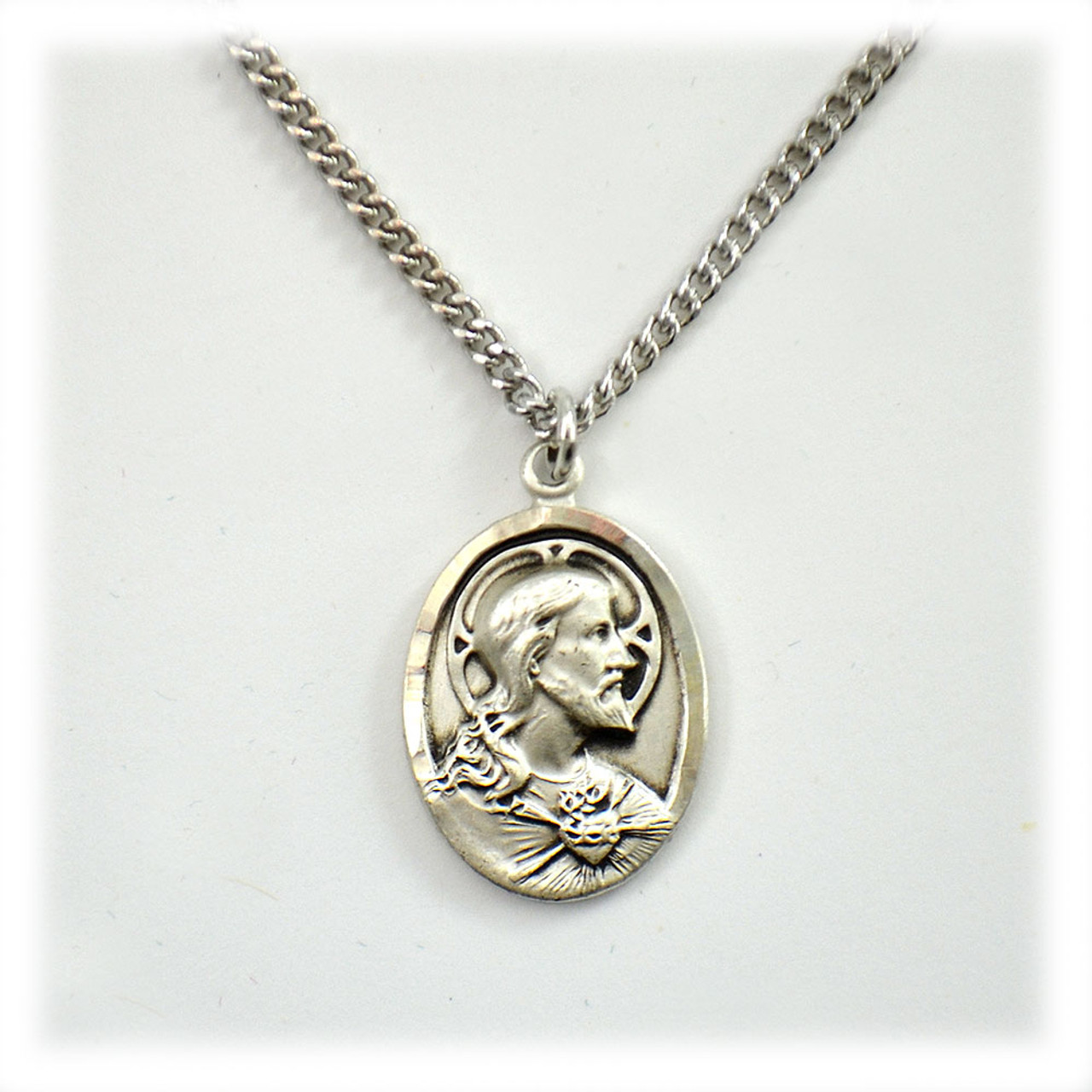 Sterling Scapular Medal 20IN Chain