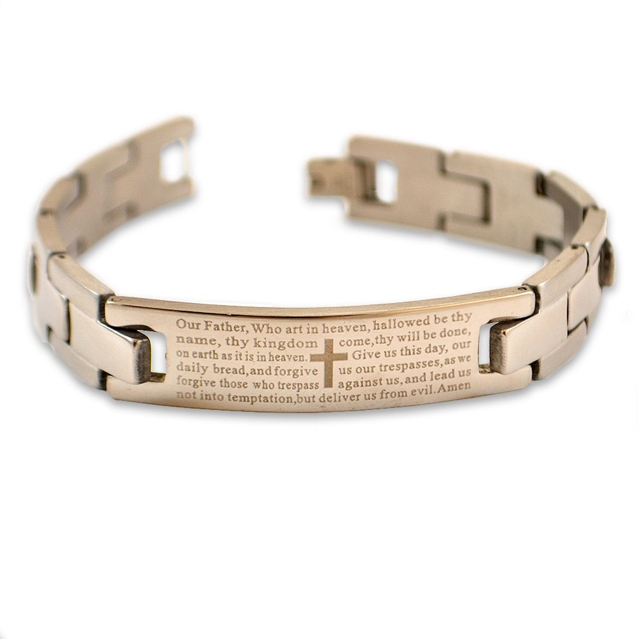 Mens Bracelet with Lords Prayer 8IN
