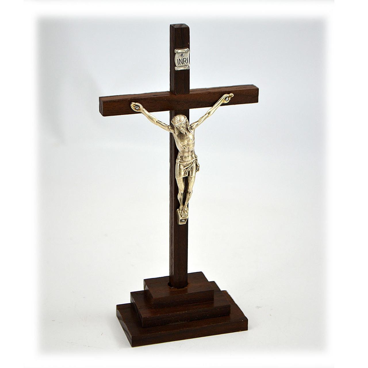 Italian Crucifix on Base 7IN