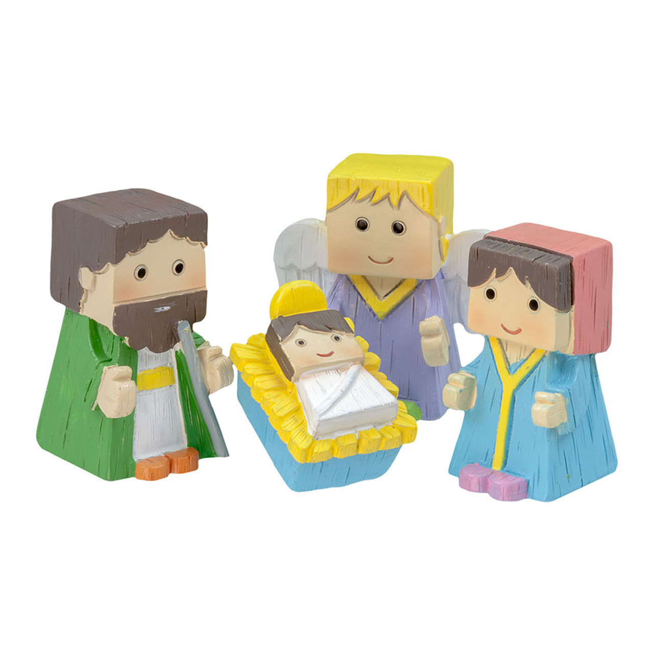 Nativity Set with Resin Cube Figures