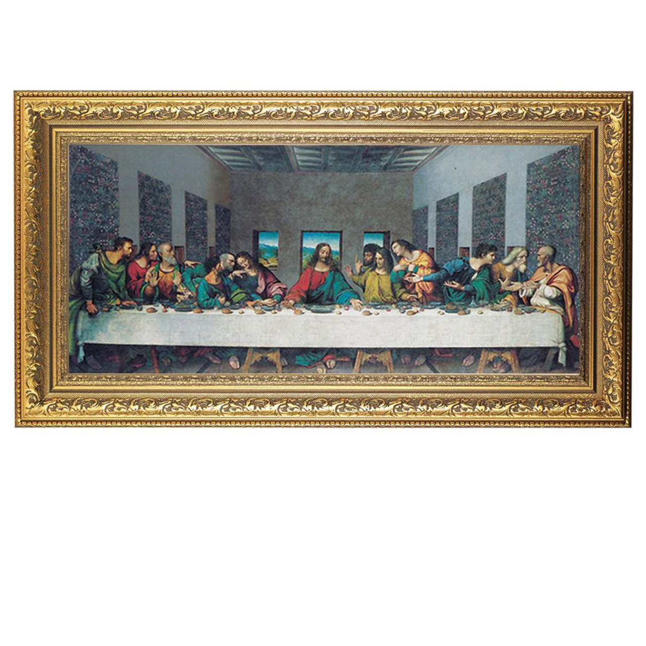 Last Supper by DaVinci 14x26IN Framed