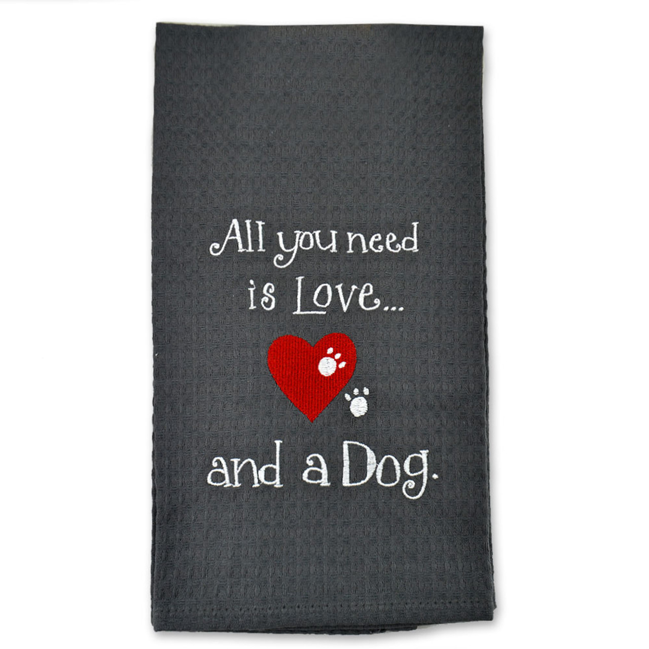 Dog and Cat Embroidered Towels 3 Asst
