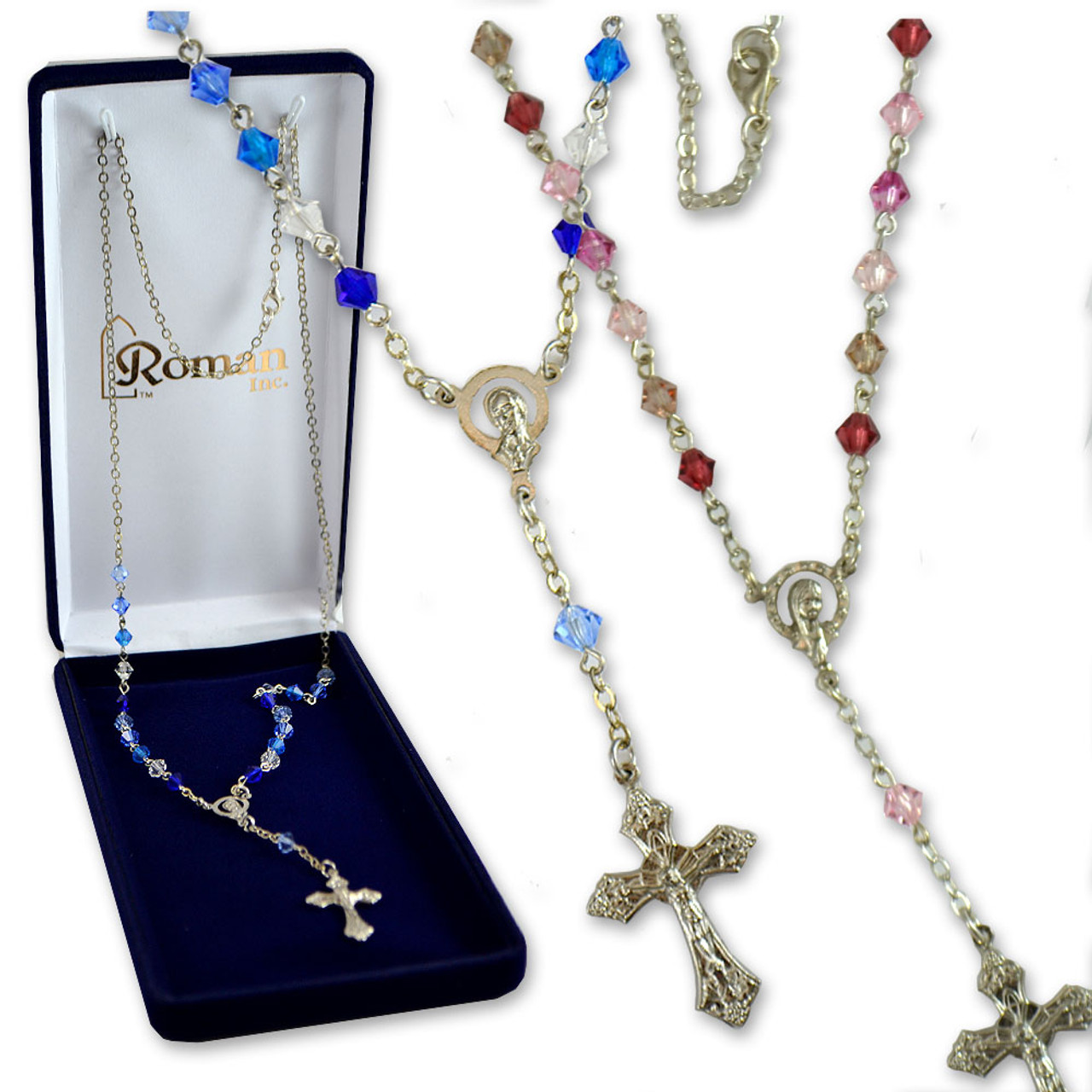 Beaded Necklace with Crucifix