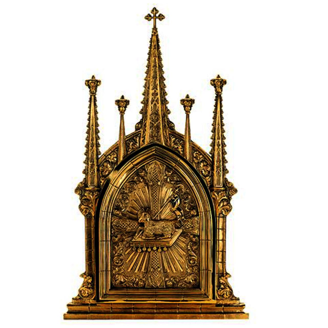 4026 Gothic Tabernacle with Agnus Dei Design