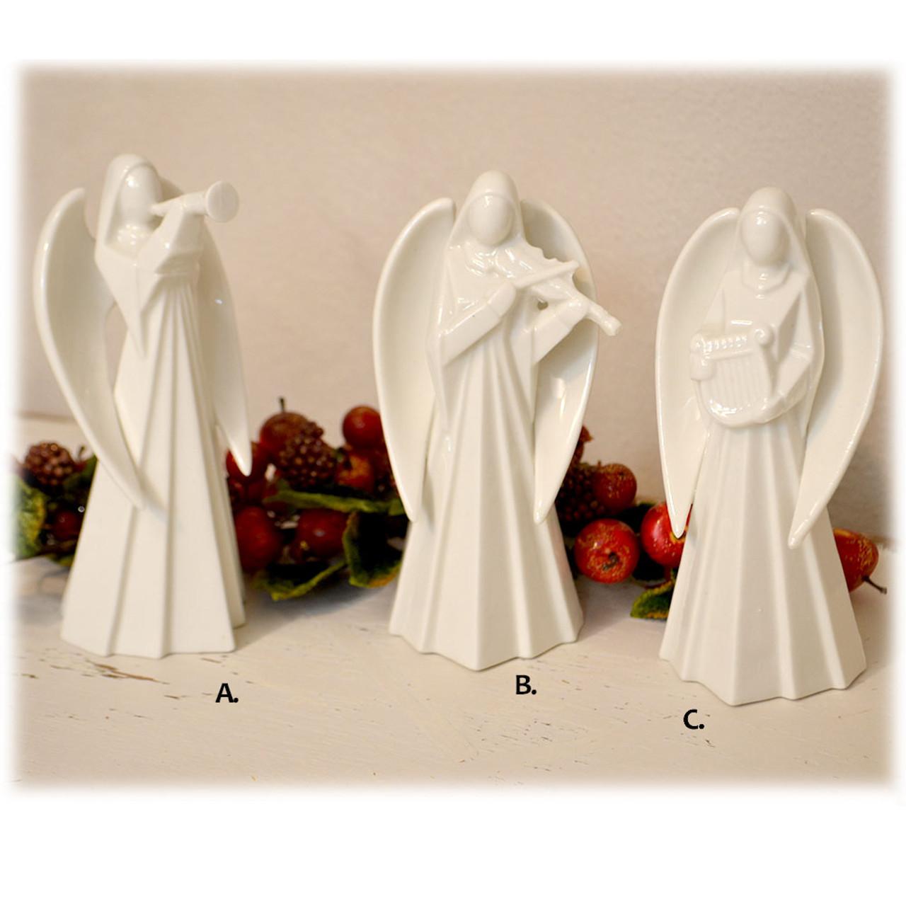 Porcelain Angels 3 Asst  6IN