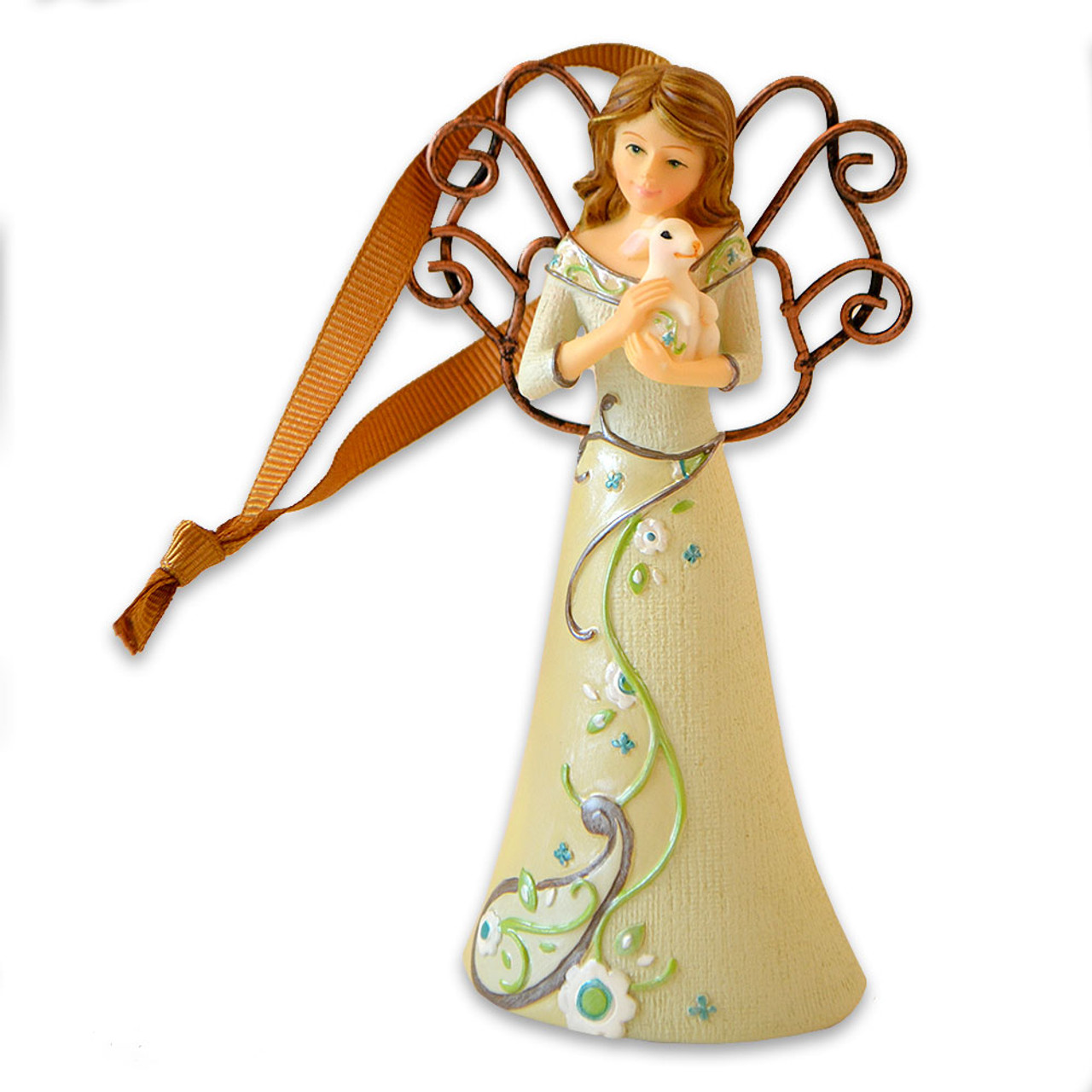 Angel with Bunny Ornament